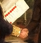 handshake detail from Treaty of Ghent